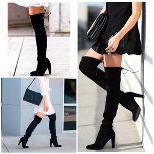 Steve Madden GLAMURR Thigh High Lace Back Boots 7